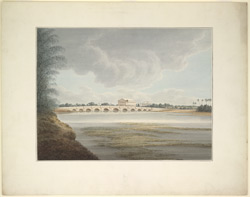 View of bridge over the Chintadrepettah River near the Government Gardens, Madras, built by Lieutenant Thomas Fraser